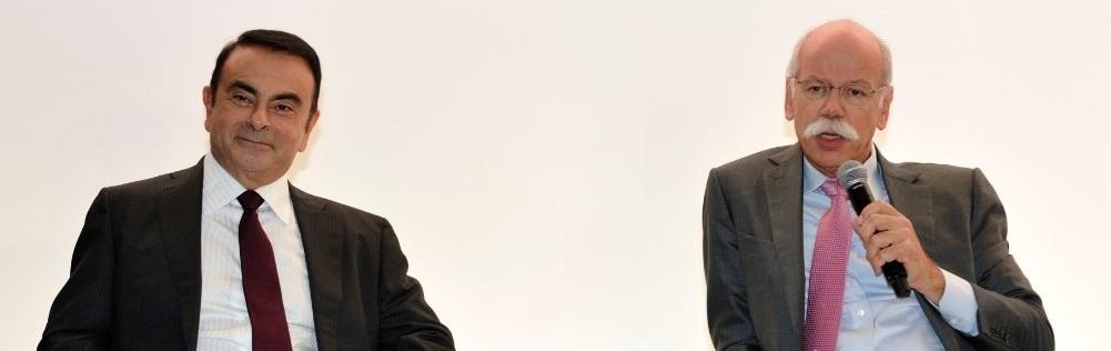 Les deux présidents de Nissan et Renault