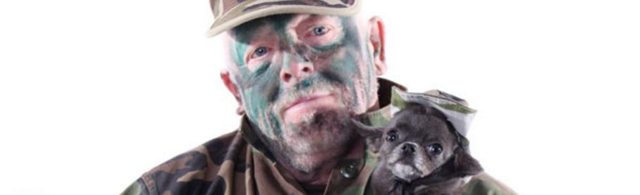 Olympe et son maître prêts pour Dog Lanta