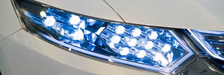 Eclairage LED d'une voiture