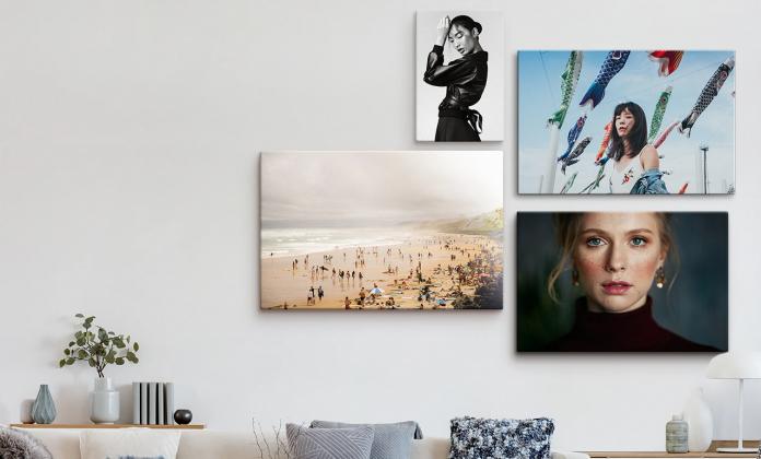 photo sur toile personnalisée décoration salon